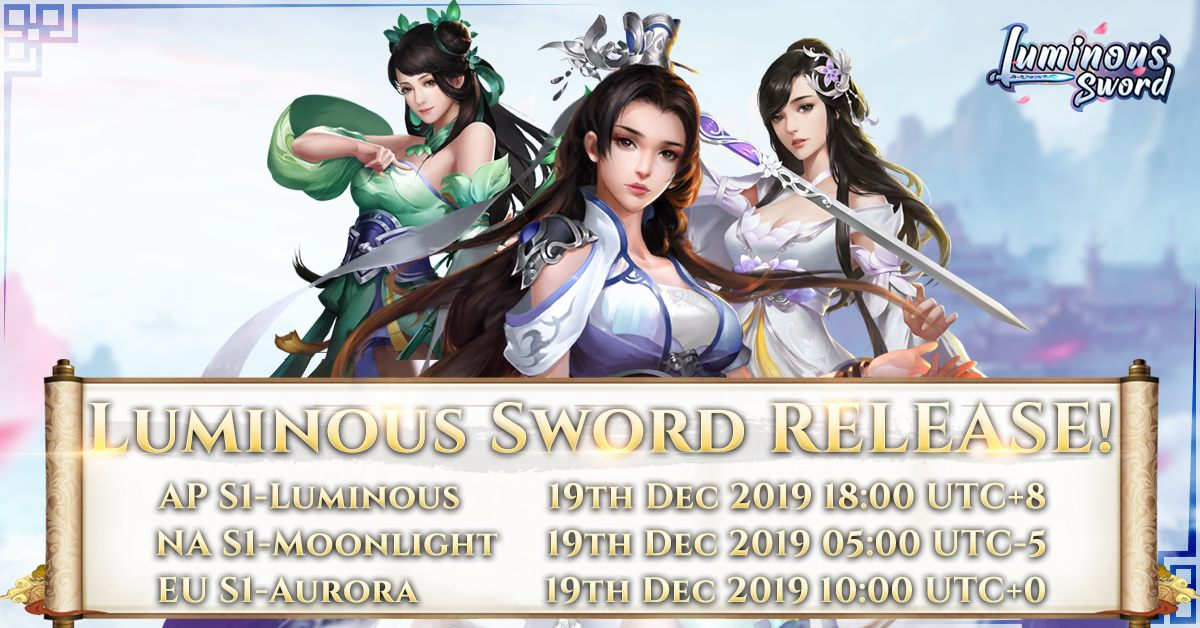 Luminous Sword - a New Mobile MMORPG is Live!